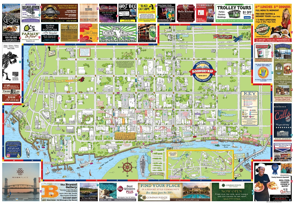 wilmington downtown discovery map carolina marketing pany inc